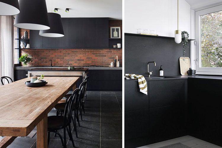 NEGRO, Tendencia de decoración para baños y cocinas